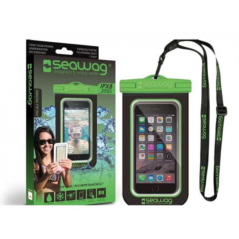 Pochette SEAWAG Waterproof noir vert universelle pour smartphone