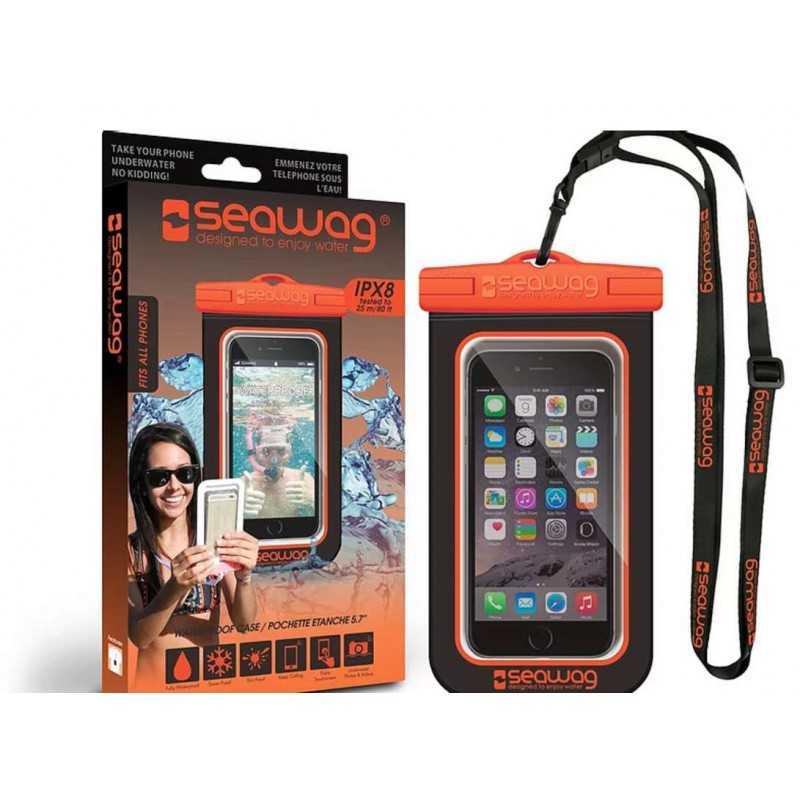 Pochette SEAWAG Waterproof noir orange universelle pour smartphone