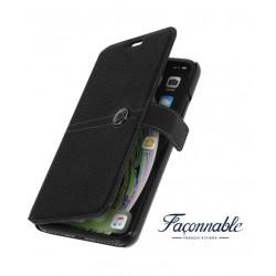 Etui FACONNABLE noir pour iPhone X / XS
