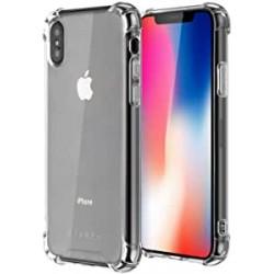 Coque silicone souple transparente pour iPhone X/Xs