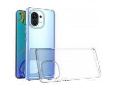 Coque silicone souple transparente pour Xiaomi Mi 11 Lite