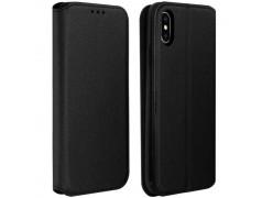 Etui portefeuille noir pour iPhone XR