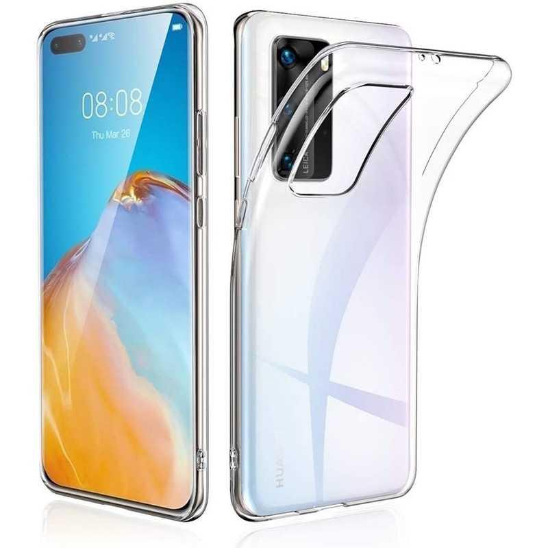 Coque silicone souple transparente pour Huawei P40