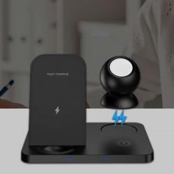 Chargeur à induction de la marque XO, 3 zones, universel pour smartphones