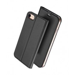 Etui portefeuille noir pour iPhone 8+