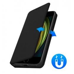 Etui portefeuille noir iPhone SE 2020