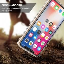 Coque intégrale 360 pour iPhone X avant arrière