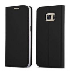Etui portefeuille noir pour Samsung S7 Edge