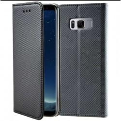 Etui portefeuille noir pour Samsung S8+