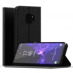 Etui portefeuille noir pour Samsung S9+