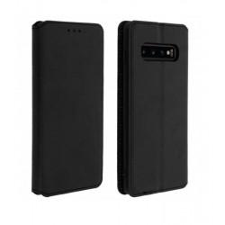 Etui portefeuille noir pour Samsung S10+