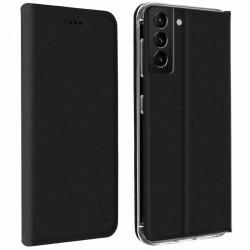 Etui portefeuille noir pour Samsung S21+