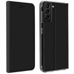 Etui portefeuille noir pour Samsung S21 FE