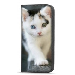 Etui portefeuille Chat pour Samsung Galaxy A12