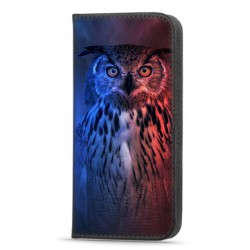 Etui portefeuille Hibou pour Samsung Galaxy A22 4G