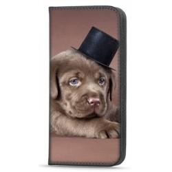 Etui portefeuille Dog pour Samsung Galaxy A22 4G