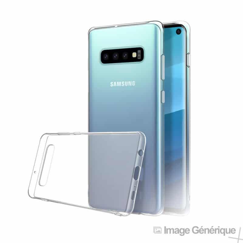 Coque silicone souple transparente pour Samsung Galaxy S10+