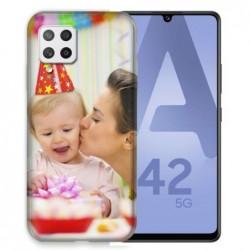 Coque souple en gel à personnaliser Samsung Galaxy A42 5g